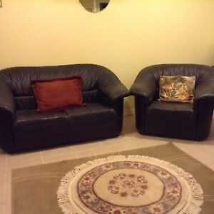 Leather Sofa set (love seat and armchair)