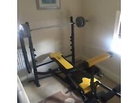 Multigym, Weights bench and weights for sale