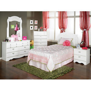 girls white bedroom set - twin
