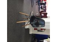 Eames Style Bistro Chair Black