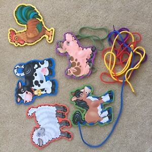 Melissa and Doug lace and trace farm animals