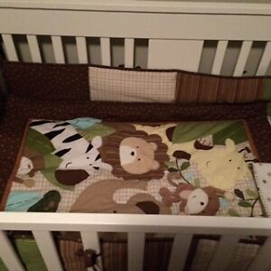 Crib bedding set - Unisex - Jungle Gatineau Ottawa / Gatineau Area image 2