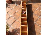 DVD/CD/Book Tall Shelf Unit - Wood. Max 12 shelves. Very Good Condition.