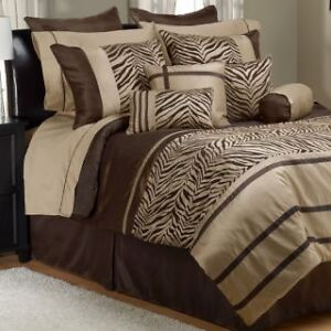 Laken Chocolate/Taupe Queen 30p Set, New