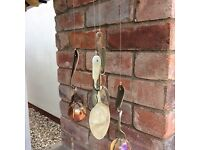 Silver ornate quirky cutlery wind chimes