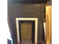 Cast Iron Fireplace with ceramic tile inserts