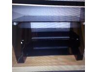 TECHLINK BENCH TV STAND - BLACK/GLOSS/GLASS