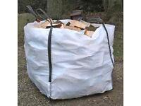 Seasoned logs, sold per ton bag, fire wood