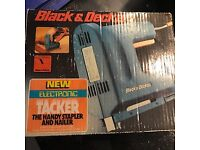 Black and Decker Tacker and stapler