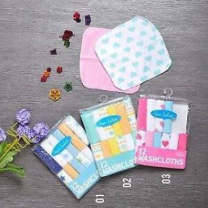 NEW: Pack of 12 washcloths