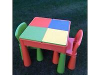 Kids table and chairs water, sand or Lego play