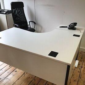 2 x curved desks