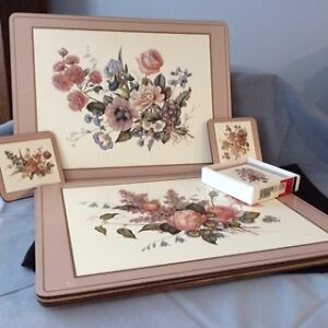 Vintage Pimpernel Placemats and Coasters set