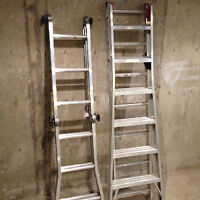 Ladders:  One Fold-out Step, 1 Regular Step/Extension - $60 Each