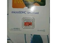 samsung 256gb memory card new sealed in pack