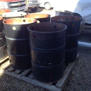 metal garbage barrels