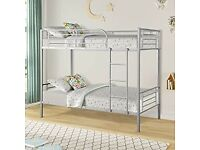 ☀️☀️MODERN DESIGN☀️☀️ SINGLE WHITE METAL BUNK BED WITH MATTRESS OPTION AVAILABLE