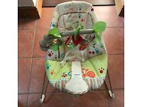 Fisher-Price Woodsy Friends Comfy Baby Bouncer hardly used excellent condition.