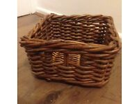 Small Dark Brown Ikea Wicker Basket