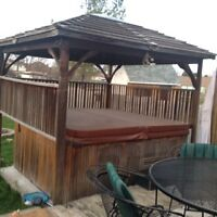 Hot Tub with gazebo and cover
