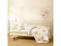 Metal day/single bed (Dunelm).