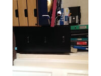 Black Filing 3 drawer office chest cost £ 60 for sale £ 25