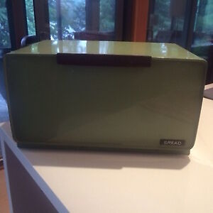 Mid-Century Modern Avocado Green Breadbox