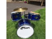 Child's size 3-7 drum kit by TIGER