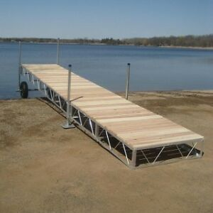 24 Foot Aluminum Roll In Outdoor Portable Boat Wood Dock