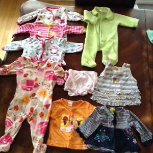 lot de vêtements de 3-6 mois fille