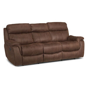 LEON'S Morrow Collection Couch Set/Saddle Brown