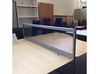 Desk Top Perspex Straight Screens