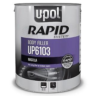U-POL 6103 Rapid System Body Filler, Gray, 3L Tin (Upol 6103)