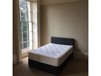 £90 - Double Bed + Base + Headboard (Good Condition)