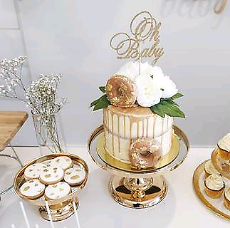 Gold Cake cakestand prop hire wedding birthday party engagement