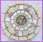 Polka Dot Broken China Mosaic Tiles