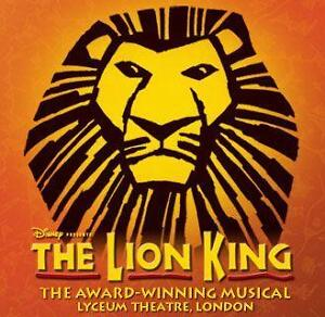 LION KING Ticket and Meal THEATRE PACKAGE with a TOP PRICED SEAT