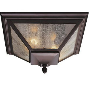 Murray Feiss 1013O Black Craftsman / Mission 2 Light Outdoor Cei