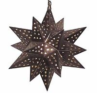 Large rustic tin star ceiling light