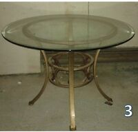 Glass dinning table, chairs, Dollie, stool, square mirrors