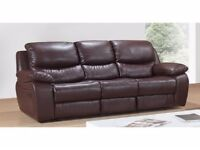 Venice leaher recliner sofa can deliver