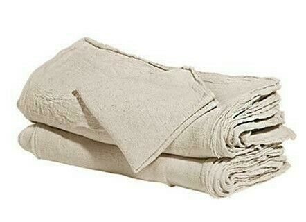 500 industrial shop cleanup rags / towels natural prewashed 13X14 inch