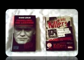 CRIME BOOKS by DAVID LESLIE - (2) - HARDCOVER/DVD - FOR SALE