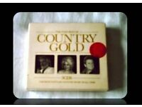 MUSIC CDS - THE VERY BEST OF COUNTRY GOLD - (3 discs) - FOR SALE