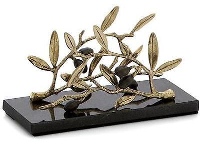 Michael Aram Olive Branch Gold Vertical Napkin Holder - 175137