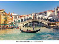 Return Flight Edinburgh to Venice Out 27 June Return 11 July £80