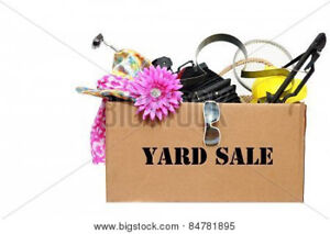 We buy boxes of  yard sale items $2 a box or garbage bag.
