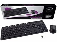 Brand New Sumvision Paradox III 2.4GHz Wireless Slim Keyboard and Optical Mouse Set Bundle
