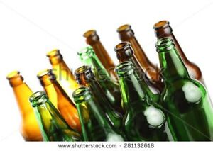 Will pick up your empty beer, wine bottles cans.