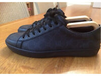 Black Gucci trainers shoes sneakers